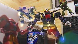 Download 『団結!ザク小隊!』ガンプラコマ撮り   Gundam stop motion【Combination! Zaku platoon!】 Video