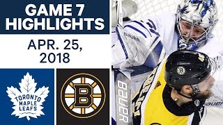 Download NHL Highlights | Maple Leafs vs. Bruins, Game 7 - Apr. 25, 2018 Video