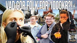 Download VAD GÖR FOLK FÖR 1000 KR?(1,000,000 SCOVILLE STARK SÅS) Video