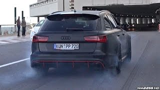 Download 750HP Audi RS6 PP-Performance Tire Smoking AWD Launch Burnout!! Video