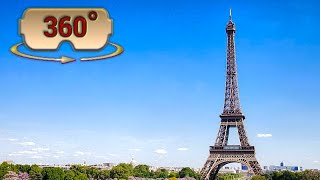 Download 360°/ VR Going up to the top of the Eiffel Tower - Elevator Ride - Paris, France Video
