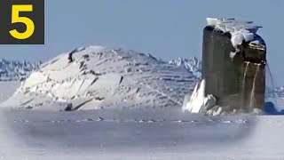 Download Top 5 Submarine Surfaces Through Ice Video