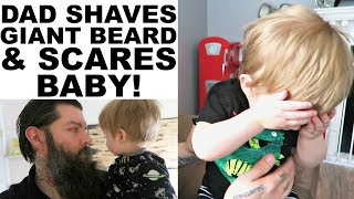 Download DAD SHAVES GIANT BEARD - BABY NOT HAPPY ABOUT IT. Video