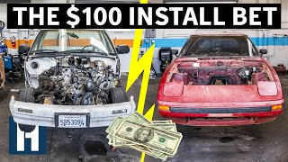 Download Build & Battle: Who's Engine Will Go in First?? Rotary vs V8 EP.3 Video