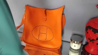 Download Full review of Hermes Evelyne bags and comparison of large, medium and small sizes Video
