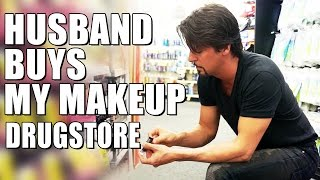 Download HUSBAND BUYS My DRUGSTORE MAKEUP Video