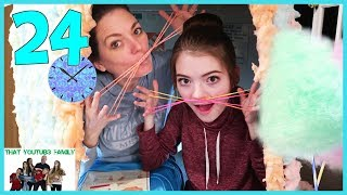 Download 24 Hours In Cotton Candy Box Fort🍭📦 / That YouTub3 Family Video