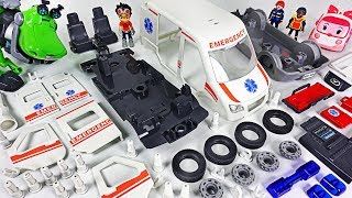 Download Ambulance Car was Damaged! Rusty Rivets! Assemble the broken car with Robocar Poli! #DuDuPopTOY Video