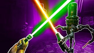 Download I Steal Darth Vader's Lightsaber and Fight Some Dumb Robots in Vader Immortal VR! Video