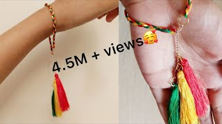 Download DIY bracelet/silk thread bracelet DIY/simple and easy bracelet/jewellery making Video