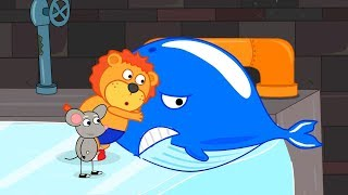 Download Lion Family Rat's Lair Whale in the Sewer Cartoon for Kids Video