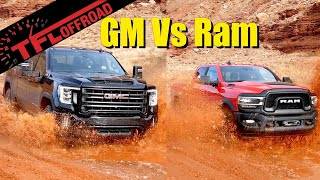 Download Can the GMC Sierra HD AT4 Dethrone the Ram Power Wagon Off-Road? We Get Them Muddy to Find Out! Video