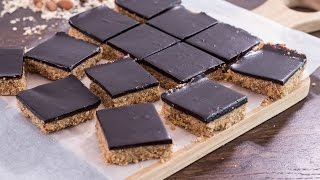 Download Healthy No-Bake Chocolate Peanut Butter Oat Bars Recipe Video