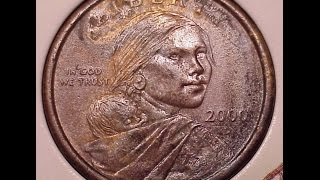 Download SacagaweaCoin 2000p-d Experimental Rinse US Mint Error Sacagawea Native American Dollar Coin Video
