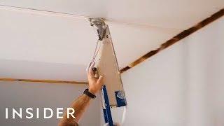 Download Tape Gun Applies Drywall Materials In Seconds Video