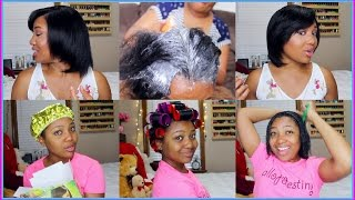 Download Relaxer Day 2017 Start To Finish + Condition, Roller Set, Style + GIVEAWAY WINNER! Video