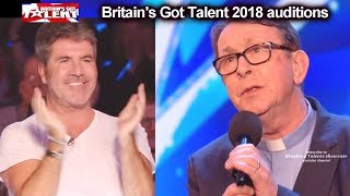 Download Father Ray Kelly Singing Priest 1 of Simon's MOST FAVORITE AUDITIONs EVER Britain's Got Talent 2018 Video