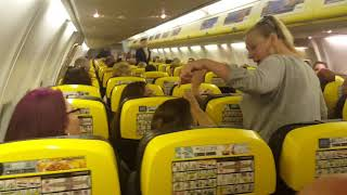 Download Ryanair flight to Alicante caused to turn back to Bristol as someone's clearly got issues Video