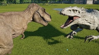 Download Indominus Rex(Modified) VS T-Rex, Spinosaurus, Giganotosaurus, Allosaurus and Carnotaurus - JWE Video