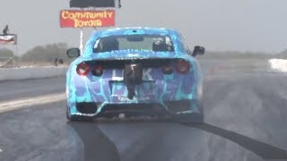 Download She might be the BEST driver we've ever seen! (2000hp Nissan GTR) Video