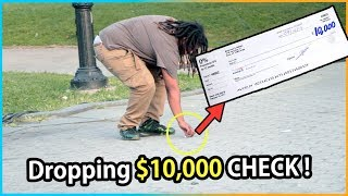 Download Dropping $10,000 CHECK Experiment (Social Experiment) Video
