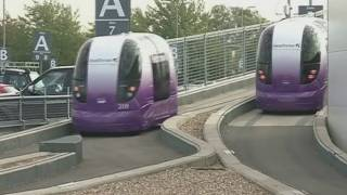 Download Personal transport pods unveiled at Heathrow Airport Video