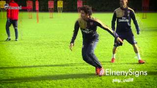 Download Mohamed Elneny trains with his new Arsenal team-mates Video