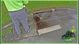 Download Pressure Washing The Filthy Storm Drain (Sewer Drain) - Satisfying! Video