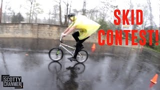 Download BIKE SKID CONTEST IN THE RAIN! Video