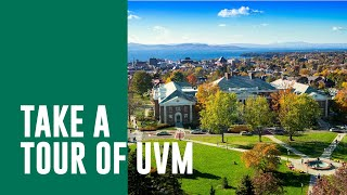Download Aerial View of the Campus at the University of Vermont Video