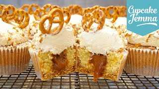 Download Pretzel & Salted Caramel Cupcakes Collab with The Boy Who Bakes | Cupcake Jemma Video