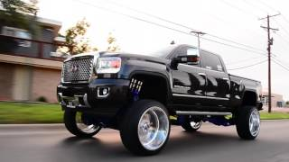 Download 2015 GMC Denali built on a 10 inch FTS lift and 26x16 wheels from beginning to end! Video