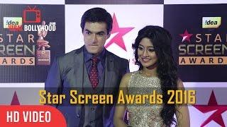 Download Shivangi Joshi and Mohsin Khan at Star Screen Awards 2016   Viralbollywood Video