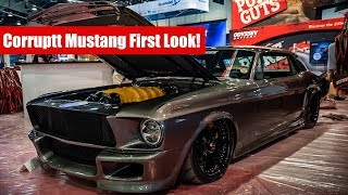 Download SEMA 2018: Exclusive first look at the Corruptt Mustang | Twin Turbo Ferrari powered Mustang! Video