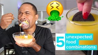 Download Eating 5 Weird Food Combos | PREGNANT FOOD? | Alonzo Lerone Video
