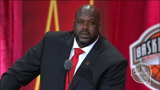 Download Shaquille O'Neal's Basketball Hall of Fame Enshrinement Speech Video