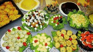 Download ПРАЗДНИЧНЫЙ стол на День Рождения. Готовлю 12 блюд! Закуски, салаты, горячее. Праздничное меню. Video