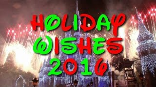 Download Holiday Wishes - Magic Kingdom (2016) FULL SHOW (Cinderellas Castle | Very Merry Christmas Party) Video