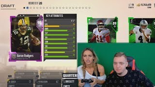 Download MY SISTER DRAFTS AN UNBEATABLE TEAM! Madden 18 Draft Champions (MUT Draft) Video