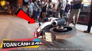 Download Thắng gấp văng ra khỏi xe máy, nam thanh niên bị xe tải cán qua người | Toàn cảnh 24h Video