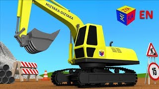 Download Trucks for children kids. Construction game: Crawler excavator Video