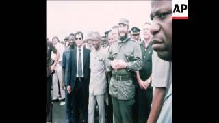 Download SYND 19 3 77 FIDEL CASTRO MET BY PRESIDENT NYERERE Video