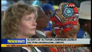Download President Zuma launches 16 days of activism campaign Video