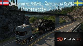 ETS2 1 28 ProMods 2 20 DAF XF105 Göteborg - Lillehammer Free