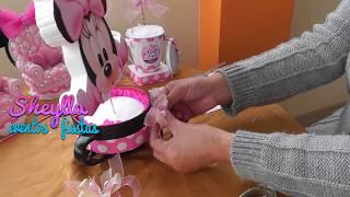 Download Como hacer centro de mesa o porta paleta, porta chupetin, temática de Minnie mouse Video