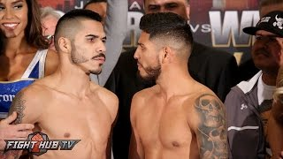 Download Jesus Cuellar vs. Abner Mares Full Weigh in & Face Off Video Video