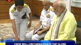 Download Women crew of INS Tarini called on PM Modi Video