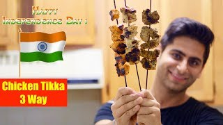 Download 3 EASY CHICKEN KEBAB RECIPES | HEALTHY INDIAN RECIPES | INDEPENDENCE DAY SPECIAL Video