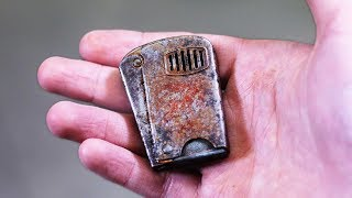 Download Old rusty squeeze lighter restoration. Got FOOLED on ebay Video
