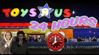 Download (CHASED!!) 24 HOUR OVERNIGHT TOYS R US FORT ⏰ | CHASED BY OVERNIGHT WORKER (ALARM WENT OFF!) Video